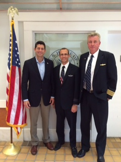 First Officer Phil Prada (Spirit Airlines), Captain Jeff James (United), & Congressman Paul Ryan
