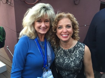 First Officer Jan Donatelli (Delta) with Congresswoman Debbie Wasserman Schultz